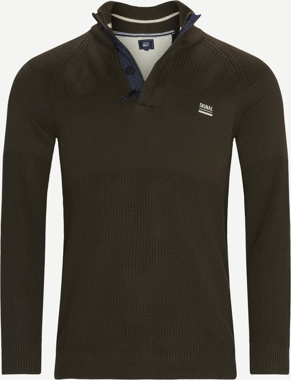 Stan Half-Zip Sweater  - Stickat - Regular - Armé